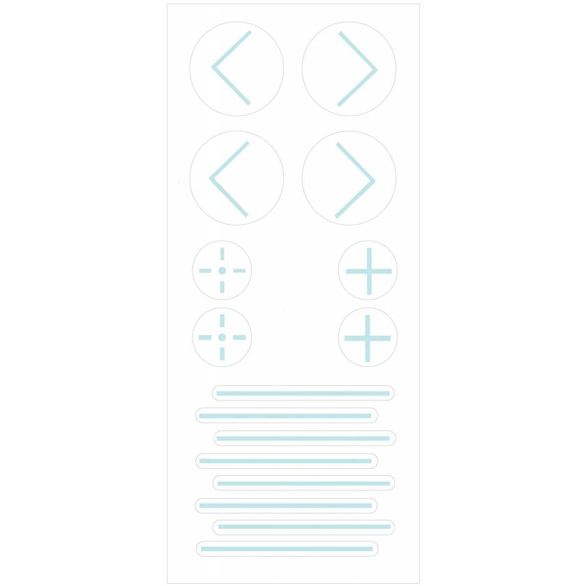 PortalMark Radiation Treatment Combination Sheet Labels for Dark Skin Surfaces