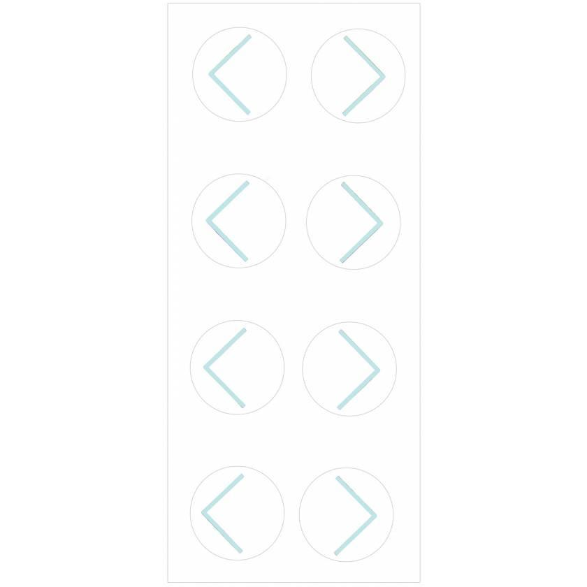 PortalMark Radiation Treatment Corner Sheet Labels for Dark Skin Surfaces