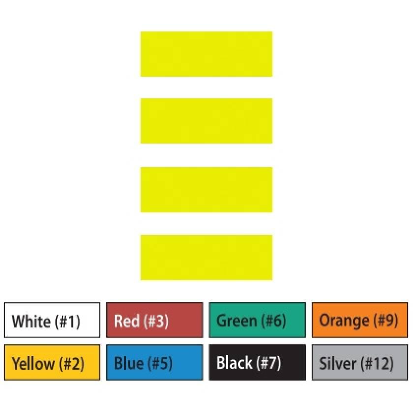 "Pre-Cut Magna Ribbon Strips - 1/2""H x 2""L"
