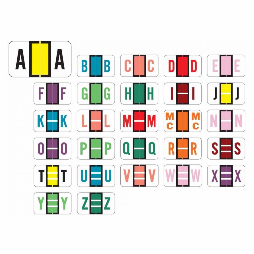 "POS 3400 Match POAM Series Alpha Roll Labels - 15/16""H x 1 5/8""W"