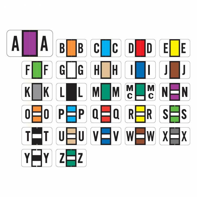 "POS 2000 Match PP3R Series Alpha Sheet Labels - 15/16""H x 1 5/8""W"
