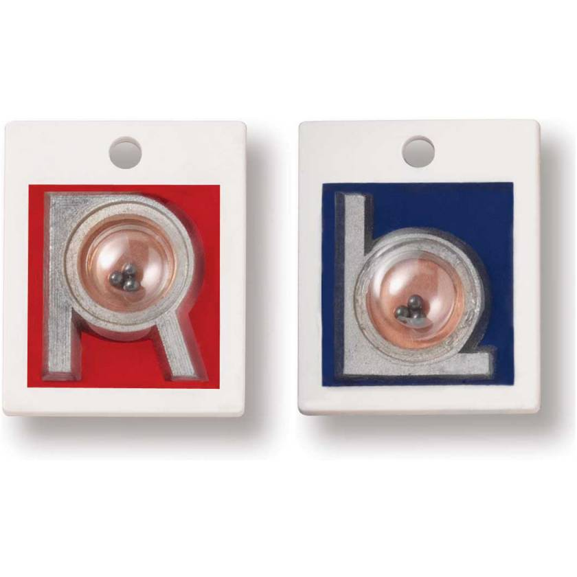 """Plastic Position Indicator Markers - 7/8"""" """"L"""" & """"R"""" Without Initials - Vertical"""