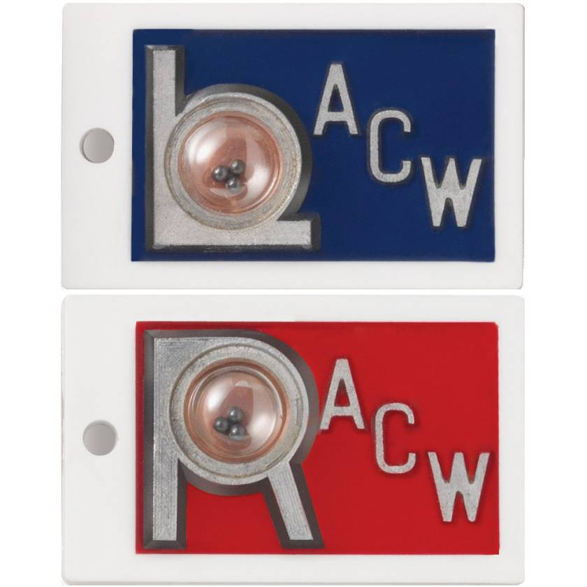 """Plastic Position Indicator Markers - 7/8"""" """"L"""" & """"R"""" With Initials - Horizontal"""