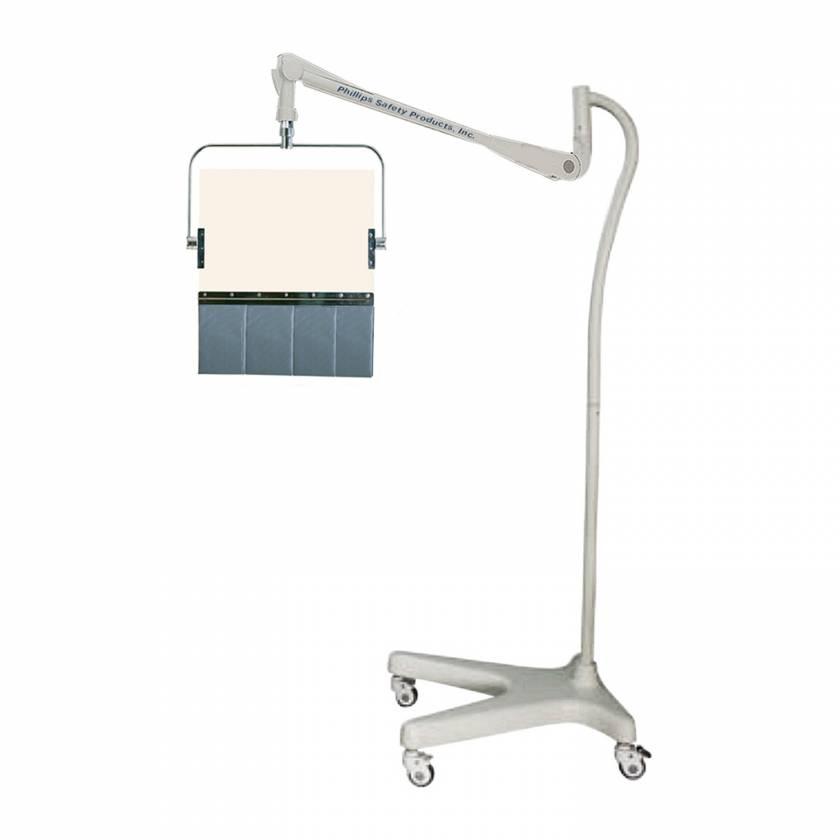 Model PTO-004 Round Arm Overhead Lead Acrylic Mobile Barrier with Lead Curtain