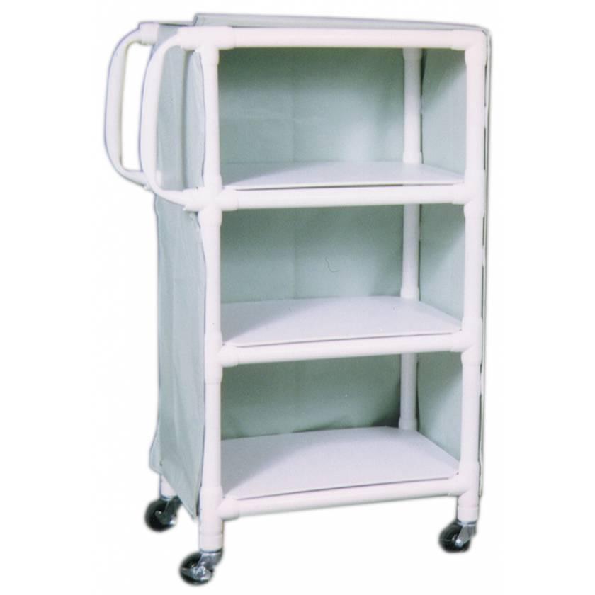 """MR-Conditional 3-Shelf Linen Cart - 20""""W x 33""""L x 51.25""""H"""