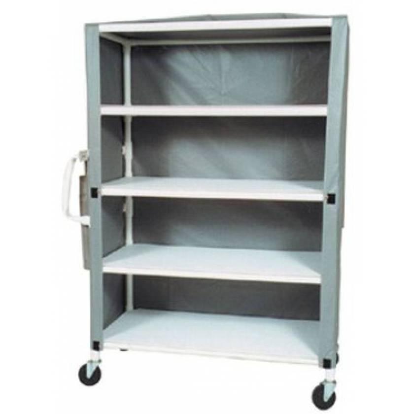 """MR-Conditional 4-Shelf Linen Cart - 24""""W x 58""""L x 77""""H"""