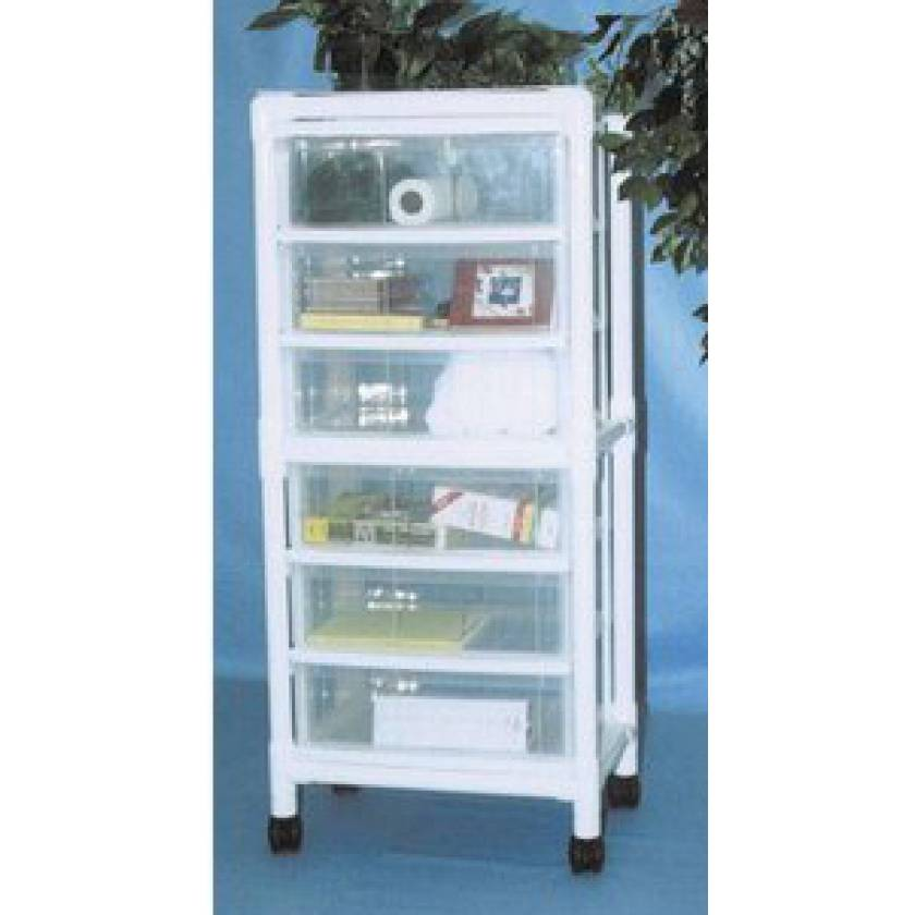 MR-Conditional PVC Universal 6-Drawer Storage Cart
