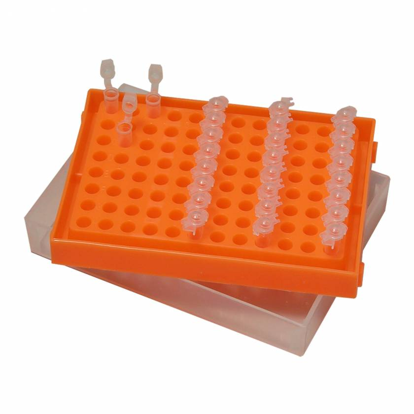 PCR Box Rack with Lid for 96 x 0.2mL Tubes, Strips, or Plates