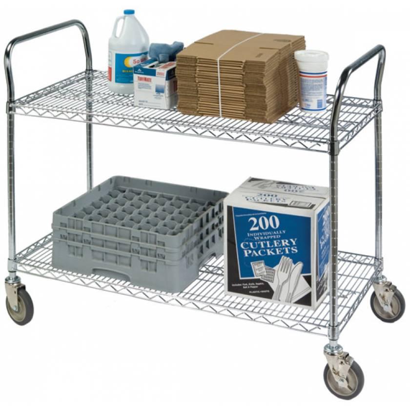 Heavy Duty Wire Shelf Utility Carts
