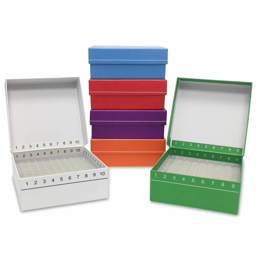 MTC Bio FlipTop Cardboard Freezer Box 100-Place R2700 Series and 81-Place R2781-Series