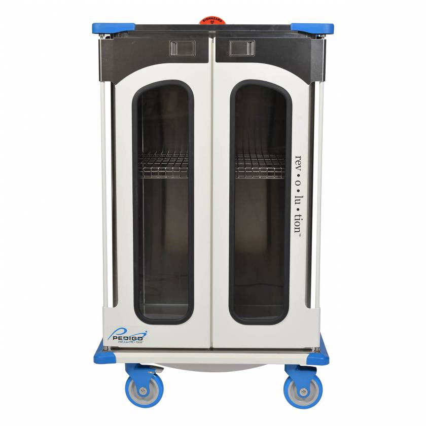 "Pedigo RCC-235-B Revolution Closed Surgical Case Cart with Double Door - 36""W x 27.5""D x 59""H"