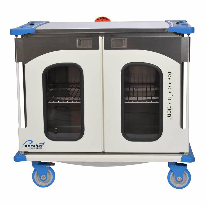 "Pedigo RCC-242-B Revolution Closed Surgical Case Cart with Double Door - 46.25""W x 27.5""D x 42""H"