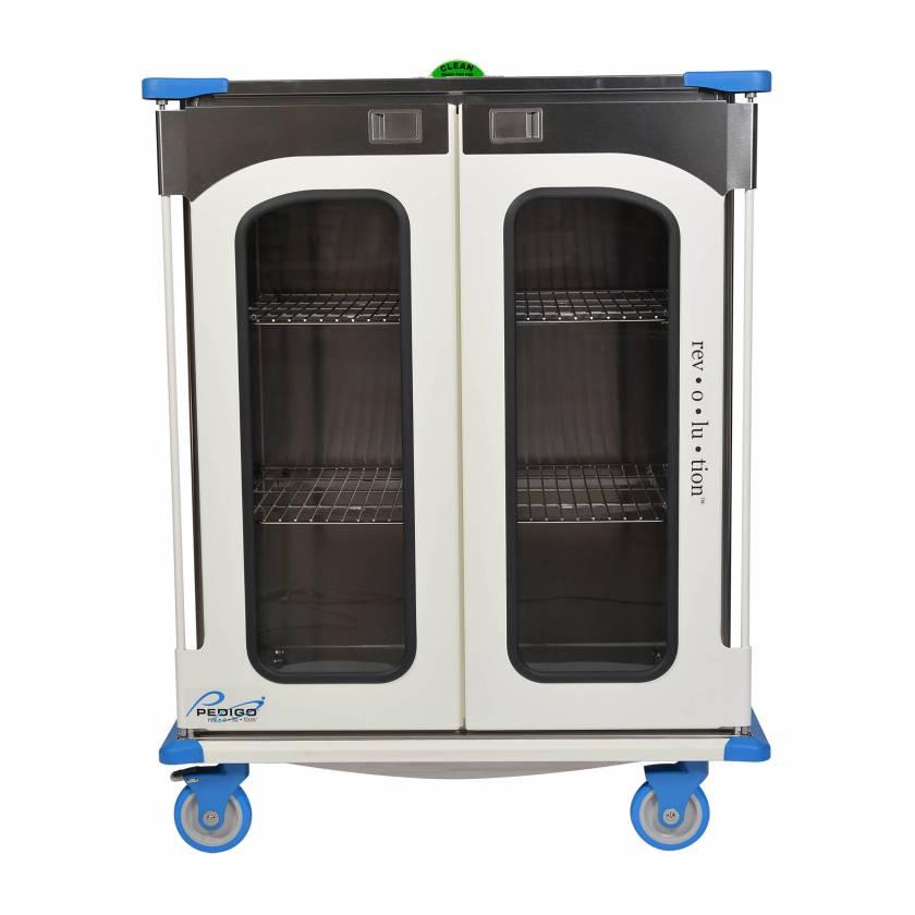 "Pedigo RCC-245-B Revolution Closed Surgical Case Cart with Double Door - 46.25""W x 27.5""D x 59""H"