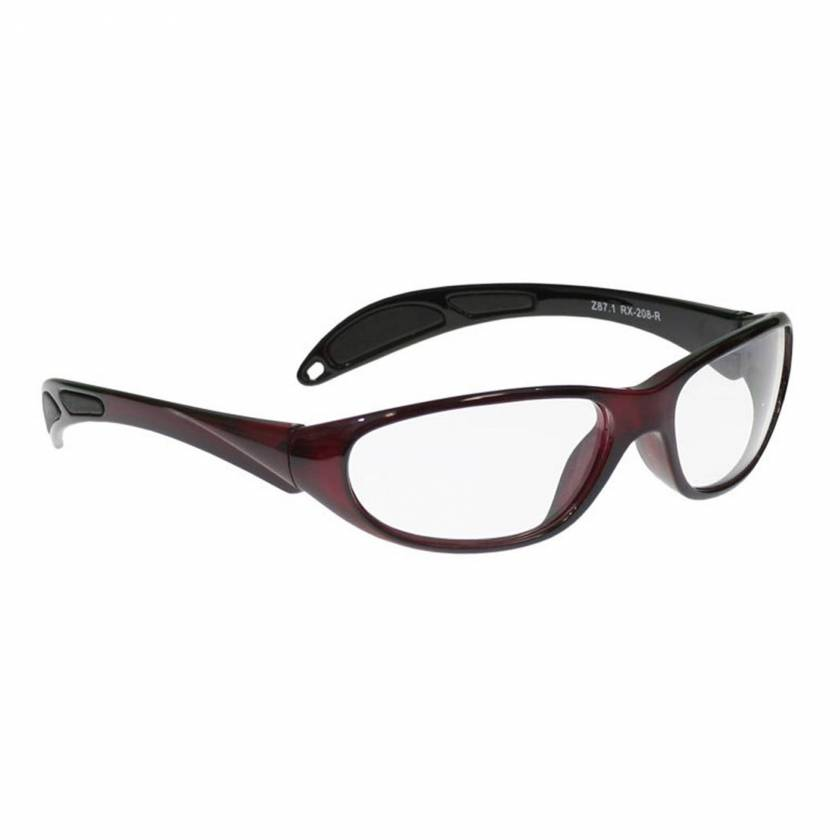 Model 208 Ultralite Wrap Lead Glasses - Red