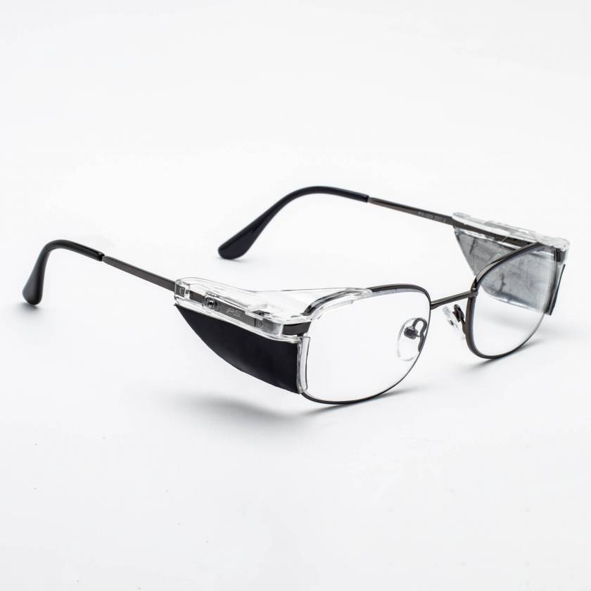 Model 320 Economy Metal Radiation Glasses with Side Shields - Gunmetal