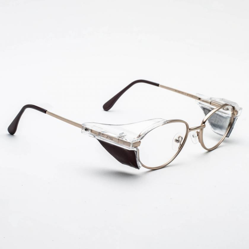 Metal Radiation Glasses with Side Shields Model 500 - Gold