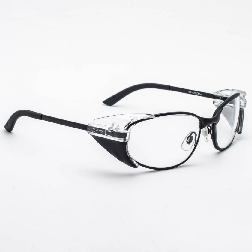 Model 525 Metal Radiation Glasses with Slim Side Shields - Black
