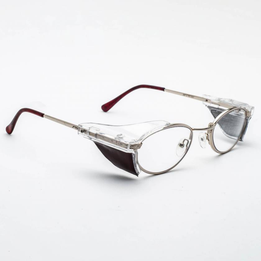 Model 557 Metal Radiation Glasses with Side Shields - Gold