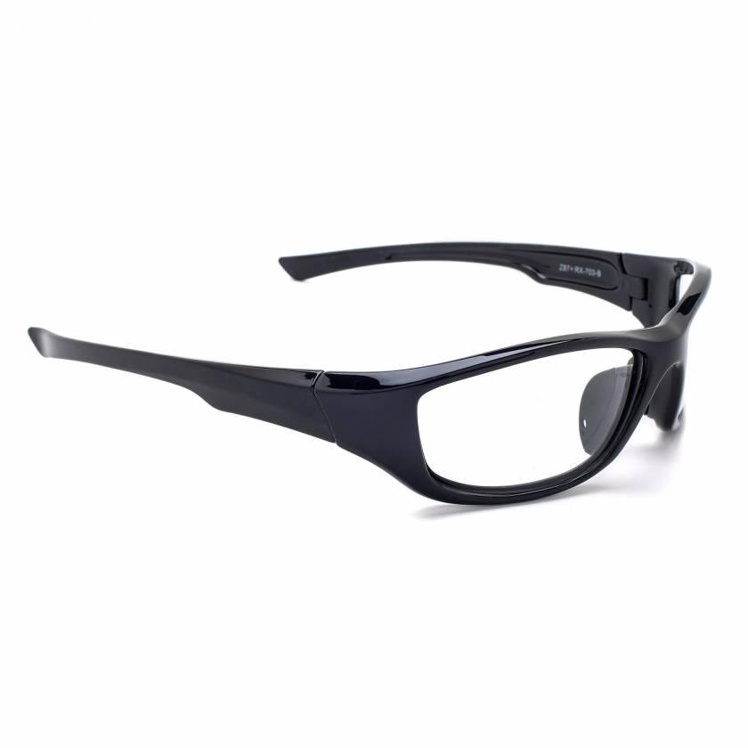 Model 703 Angled Frame Radiation Eyewear - Black