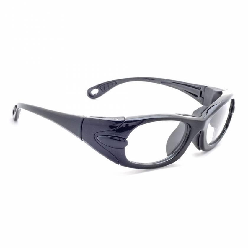 Model EGM Wrap Around Radiation Glasses - Black