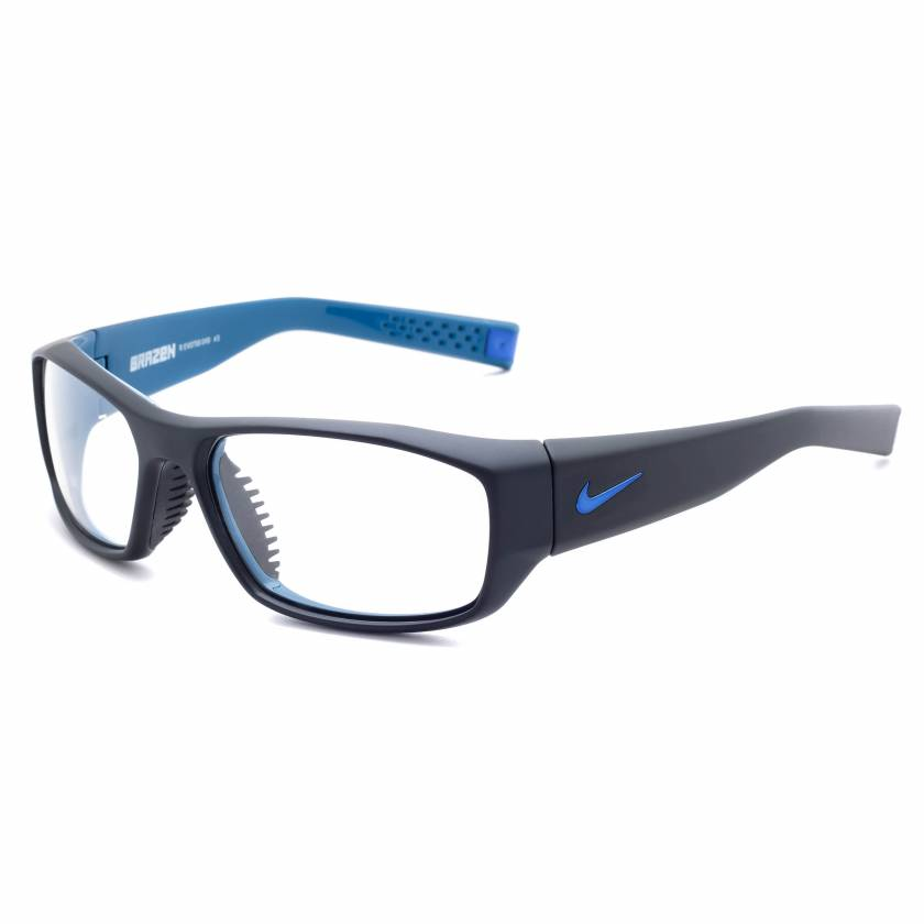 Nike Brazen Radiation Glasses - Matte Black Military Blue EV0758-049