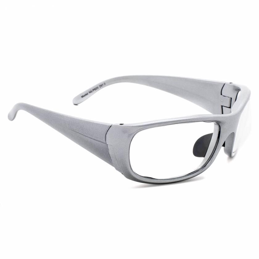 Model P820 Wrap Around Radiation Glasses - Silver