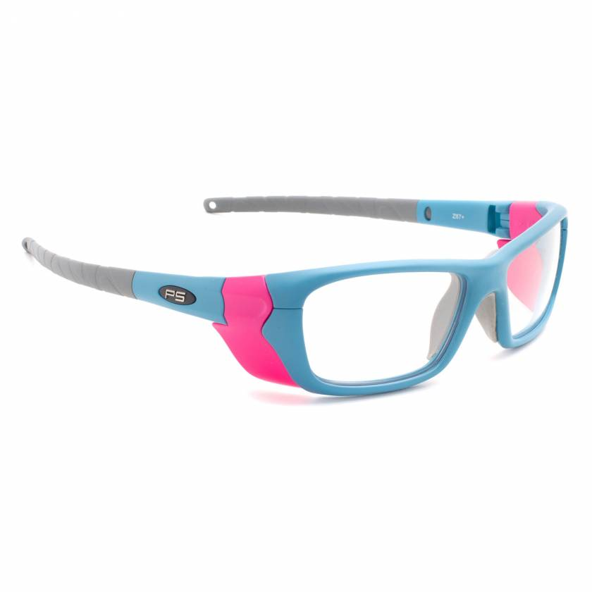 Model Q200 Radiation Glasses - Blue Pink