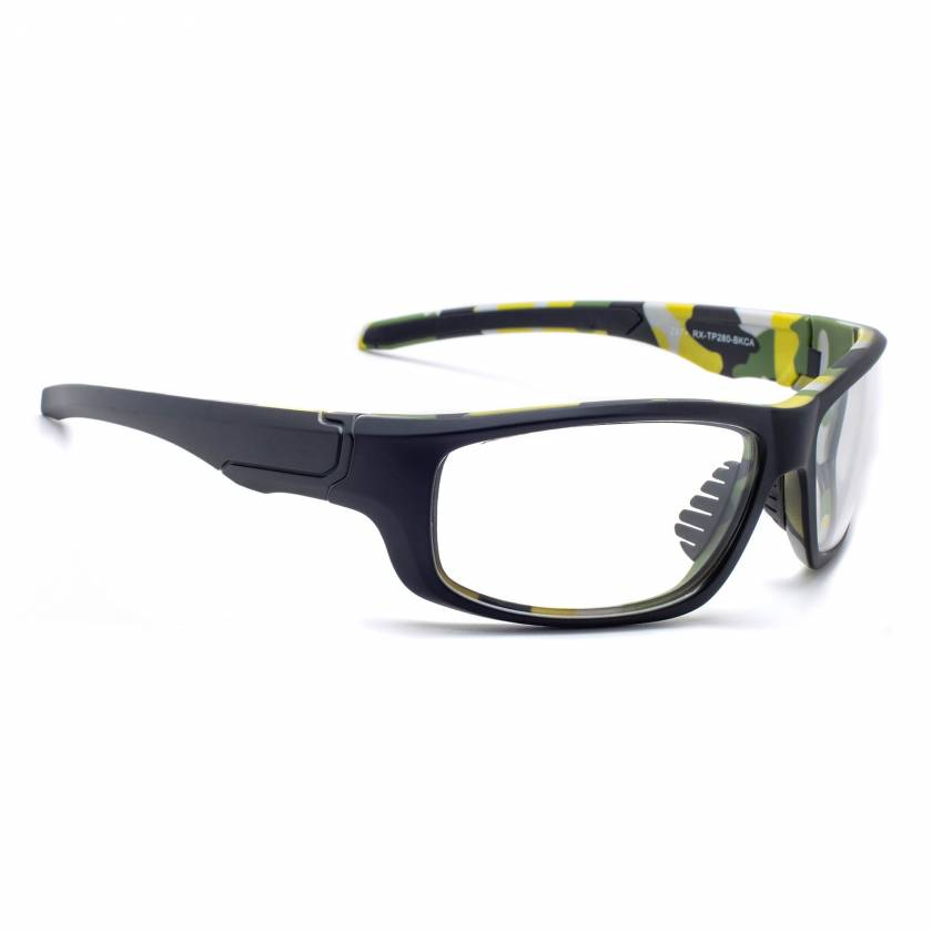 Model TP280 Wrap Around Radiation Glasses - Black Camouflage