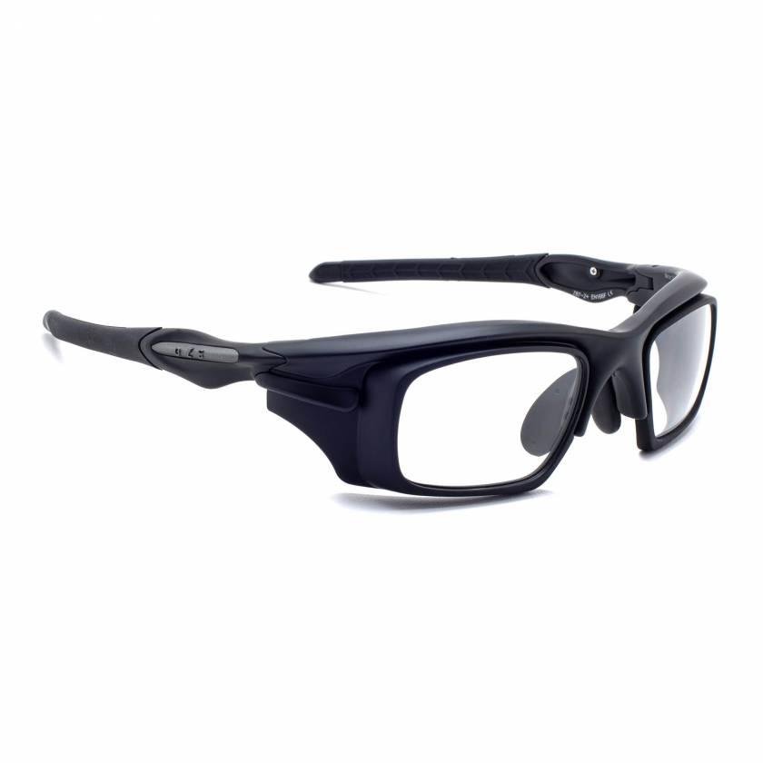 Model Warrior 101 Wrap Around Radiation Glasses - Matte Black