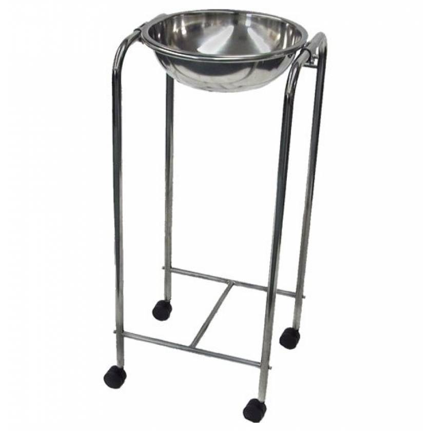 MRI Non-Magnetic Stainless Steel Basin Stand with Casters