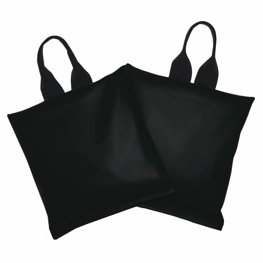 """SBPR-10S-BLK-ST Cervical Sandbag 2-Piece Set - Black Vinyl 10 lb. Size 11"""" x 11"""""""