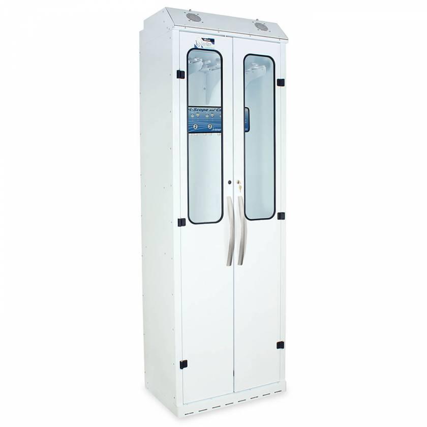 Harloff SC8030DRDP-DSS2310 Powder Coated Steel SureDry 10 Scope Drying Cabinet with Dri-Scope Aid - Key Locking Tempered Glass Doors