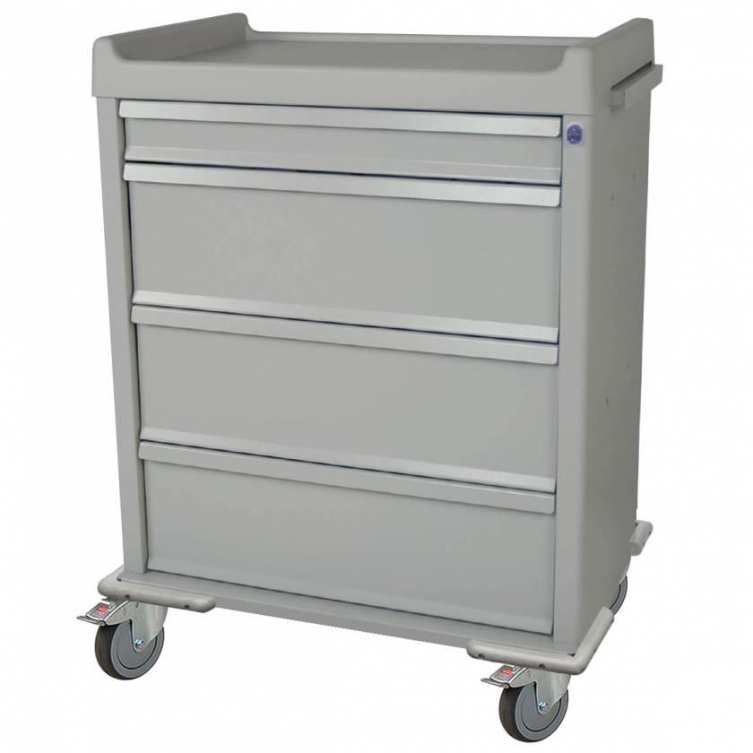 Harloff SL550PC Standard Line 550 Punch Card Medication Cart with Key Lock, Locking Narcotics Box