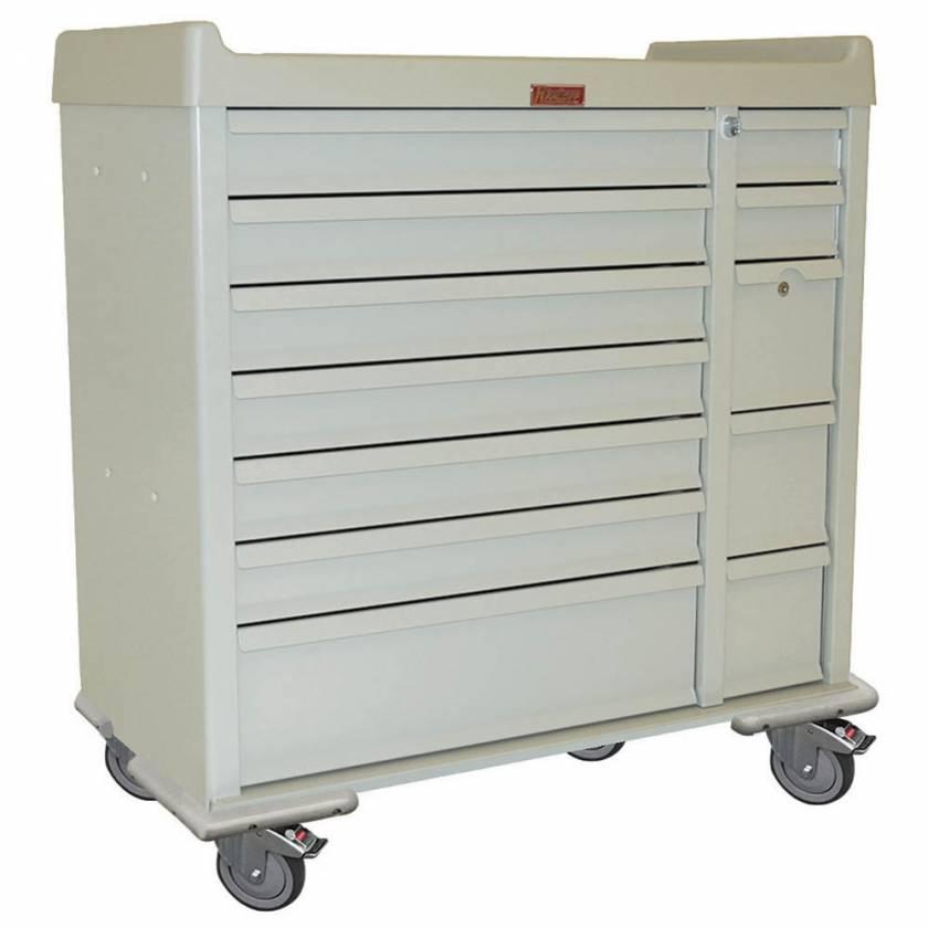 Harloff SL72MD Standard Line 72 Bin Multi-Dose Medication Cart with Key Locks