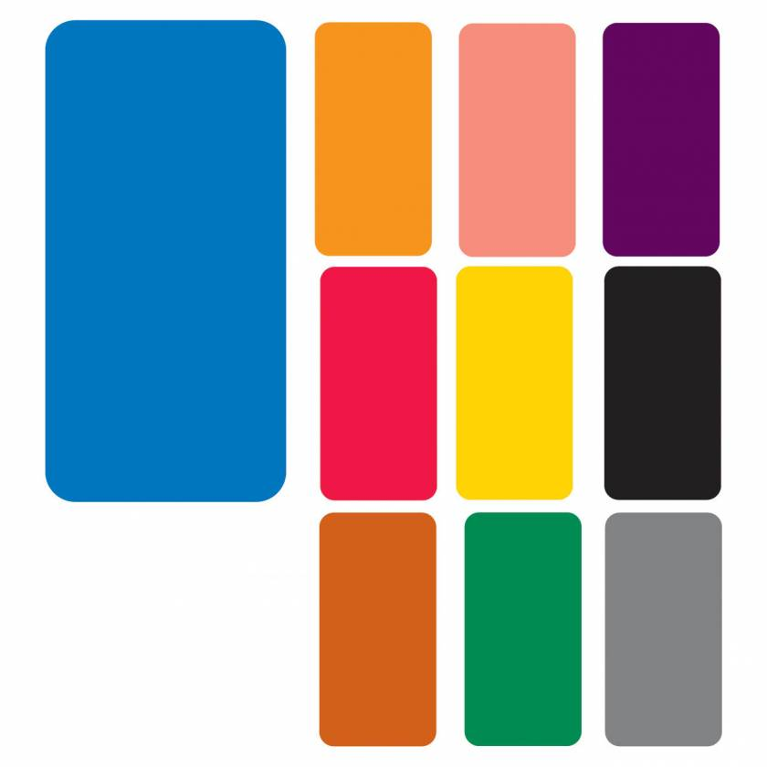 """Smead CC Match SMLP Series Solid Color Roll Labels - 2""""H x 1""""W"""