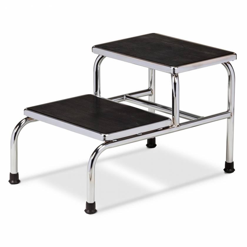 Clinton Model T-6842 Double-Step Chrome Bariatric Step Stool