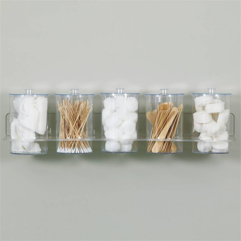 Clinton T-88 Clear Acrylic Wall Mount Jar Rack (Jars NOT Included)