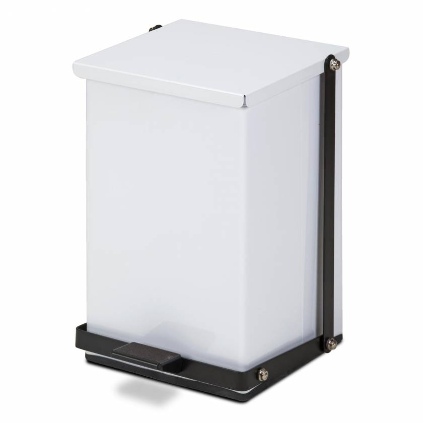 Clinton Model TP-24W 24 Quart Premium White Waste Receptacle