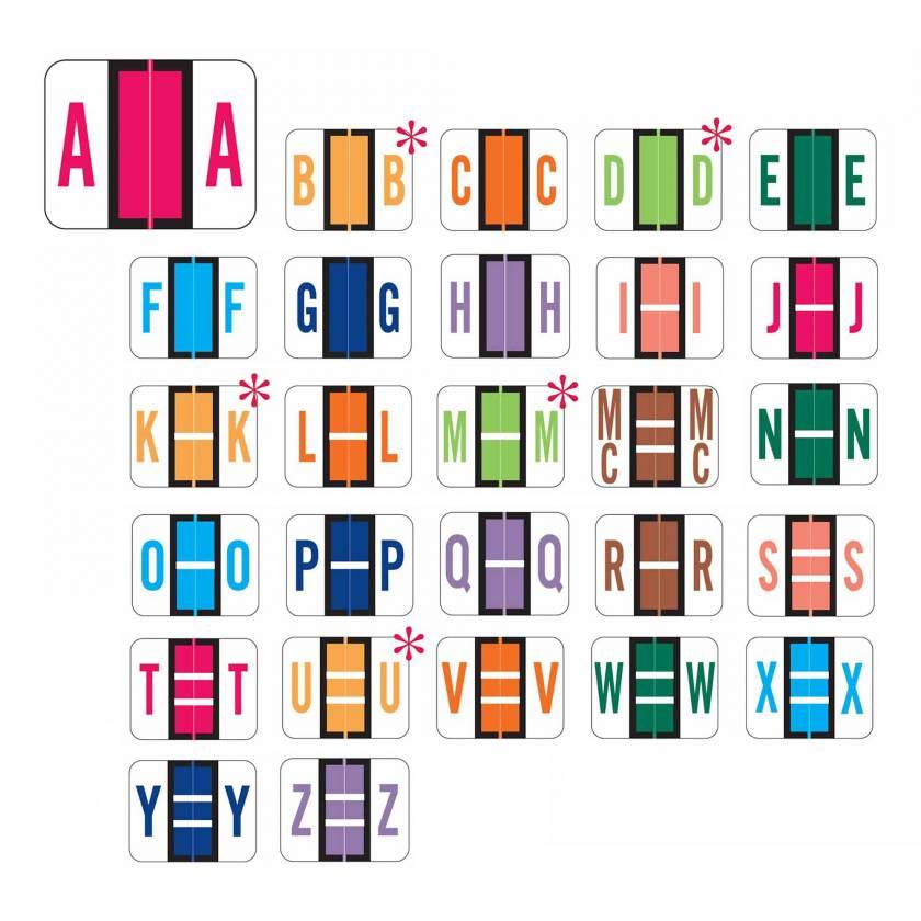 "Smead BCCR Match TPAM Series Alpha Roll Labels - 1""H x 1 1/4""W"