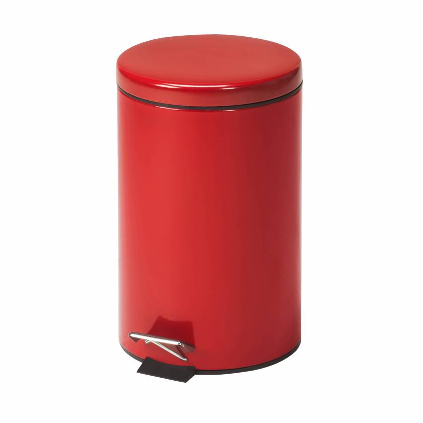 Clinton Model TR-13R Small Round Red Waste Receptacle - 13 Quart (3.25 Gal)