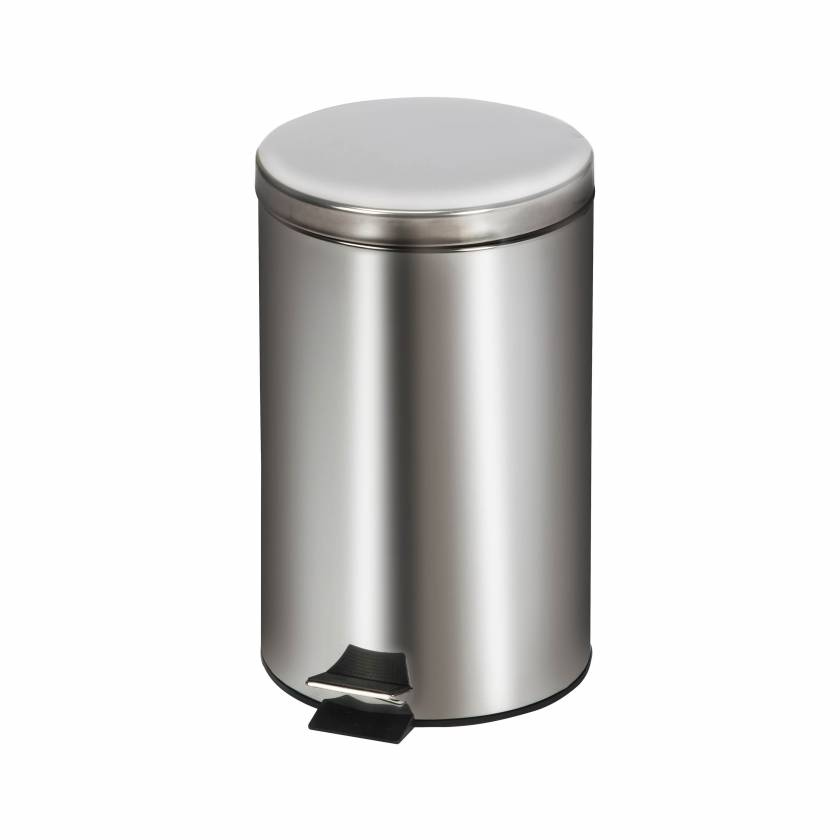 Clinton Model TR-13S Small Round Stainless Steel Waste Receptacle - 12 L Capacity (12.68 Quarts)