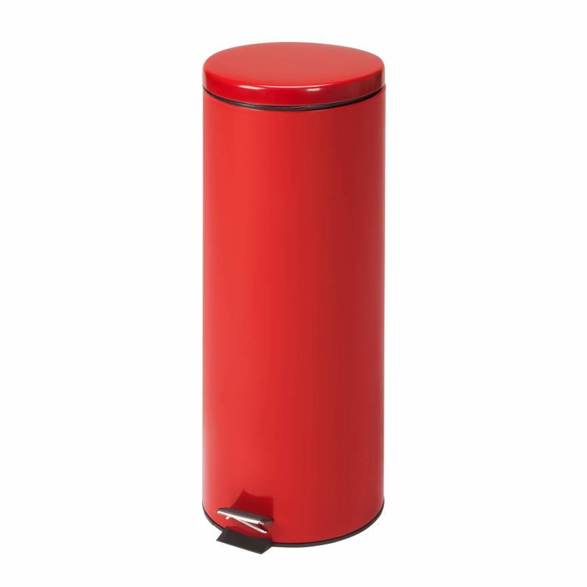 Clinton Model TR-20R Medium Round Red Waste Receptacle - 20 L Capacity (21.13 Quarts)
