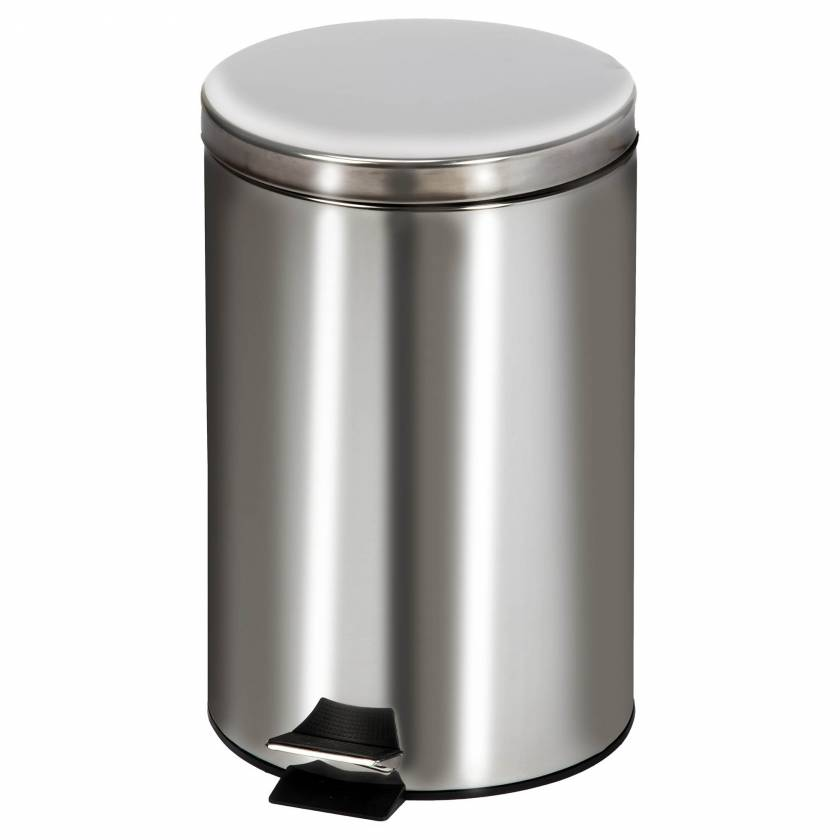 Clinton Model TR-20S Medium Round Stainless Steel Waste Receptacle - 20 Quart (5 Gal)