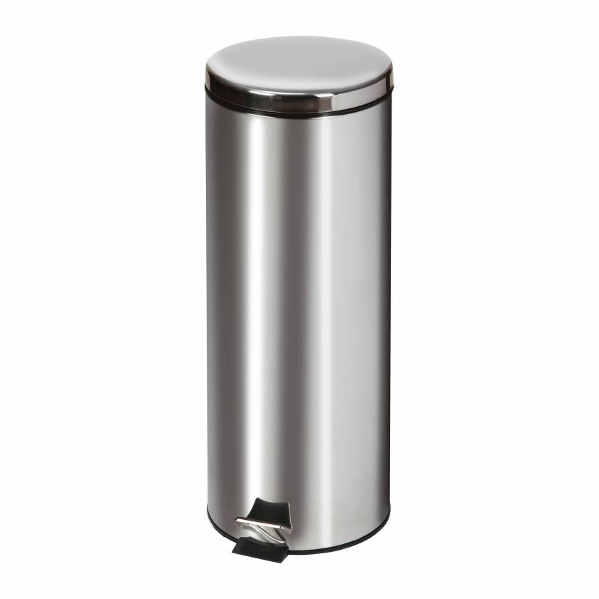 Clinton Model TR-20S Medium Round Stainless Steel Waste Receptacle - 20 L Capacity (21.13 Quarts)