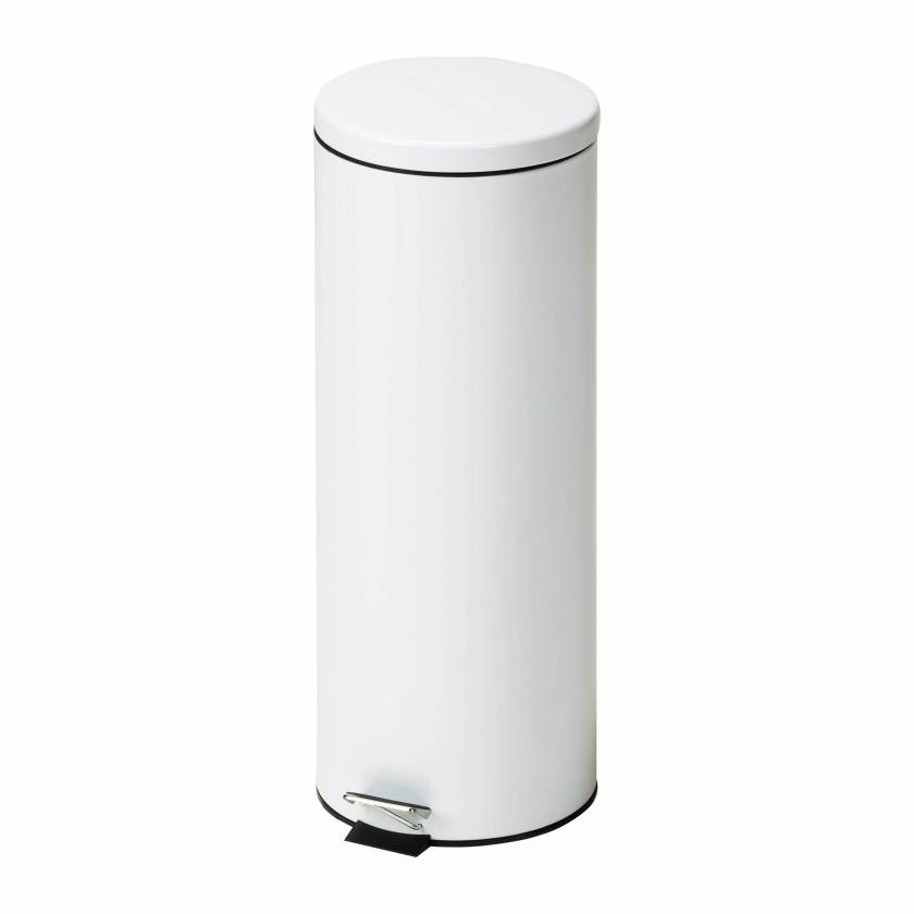 Clinton Model TR-20W Medium Round White Waste Receptacle - 20 L Capacity (21.13 Quarts)