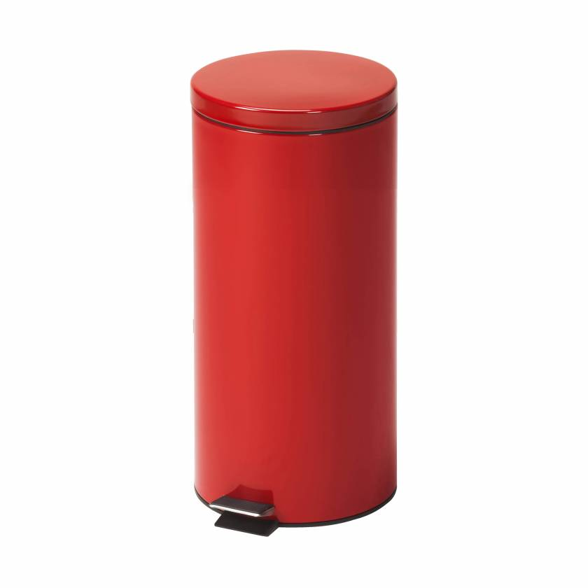 Clinton Model TR-32R Large Round Red Waste Receptacle - 32 L Capacity (33.8 Quarts)