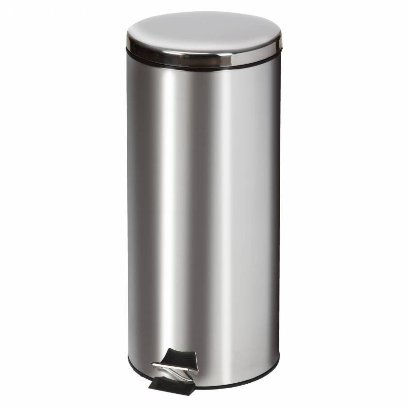 Clinton Model TR-32S Large Round Stainless Steel Waste Receptacle - 32 Quart (8 Gal)