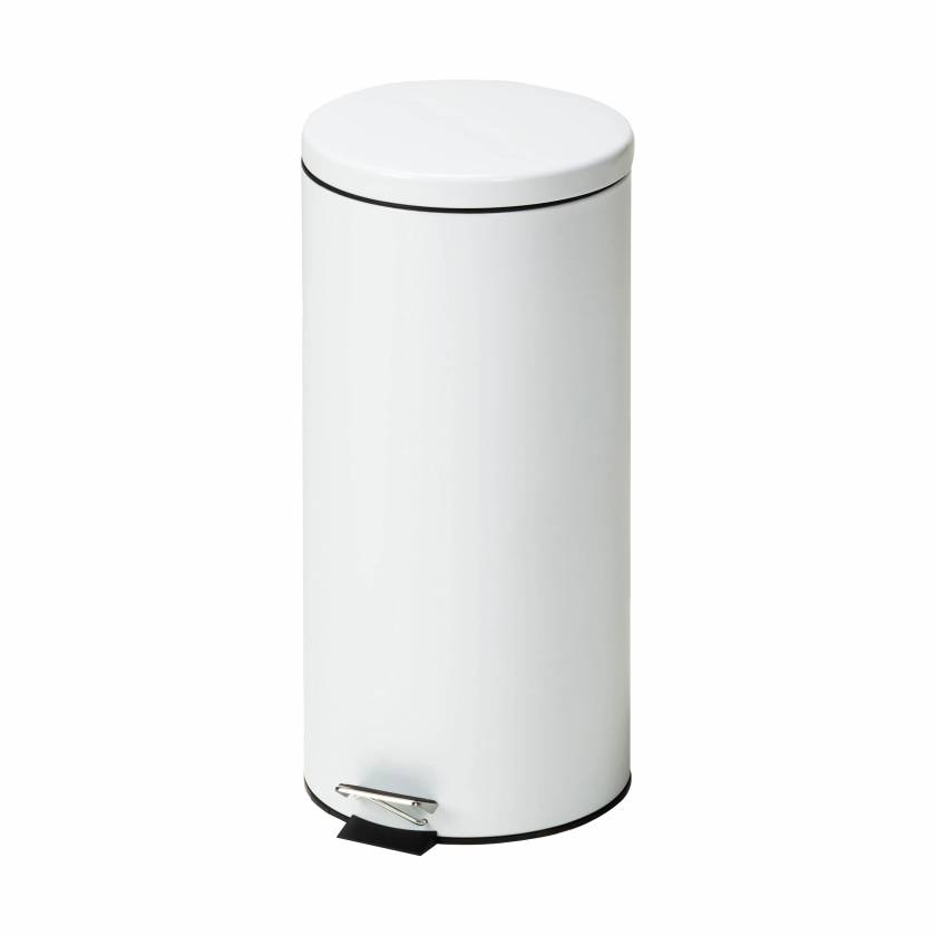 Clinton Model TR-32W Large Round White Waste Receptacle - 32 L Capacity (33.8 Quarts)