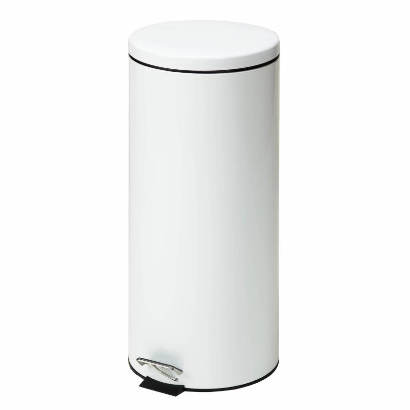 Clinton Model TR-32W Large Round White Waste Receptacle - 32 Quart (8 Gal)