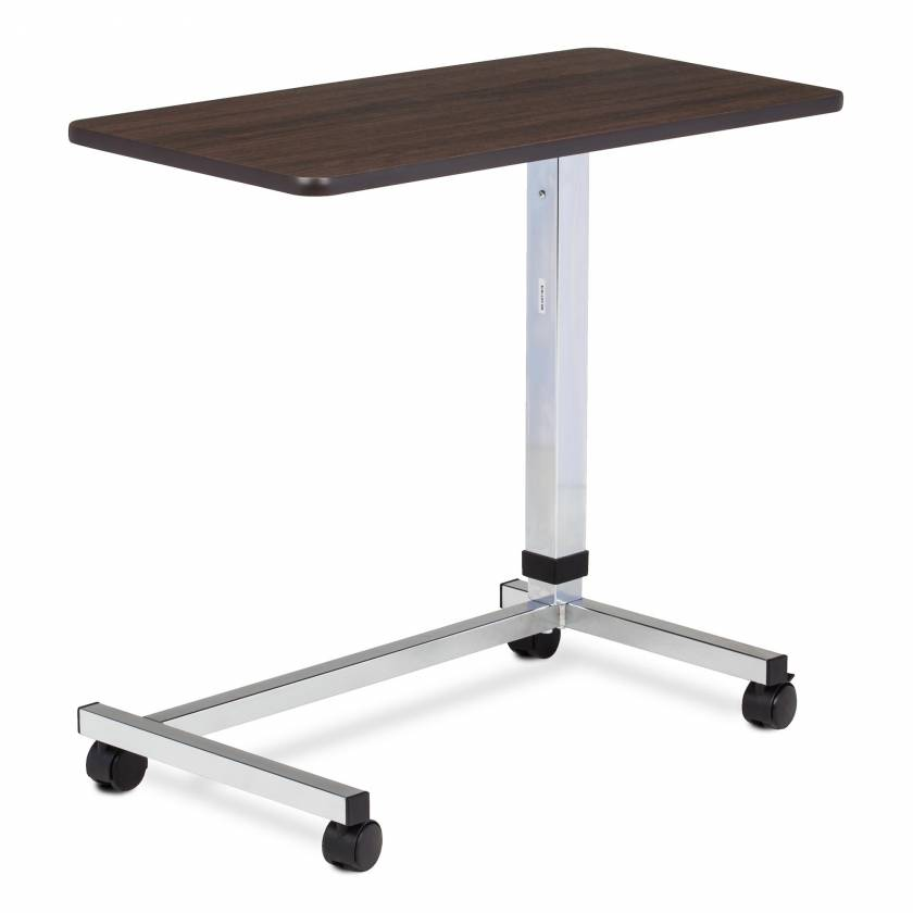 Clinton Model TS-160 U-Base, Over Bed Table With Walnut Laminate Top